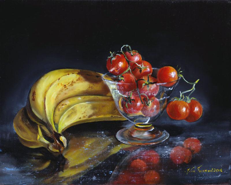 Bananes et tomates cerise 24X19